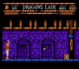 Sullivan Bluth Presents Dragon's Lair NES Second stage. Those guys behind the doors throw lethal stones.