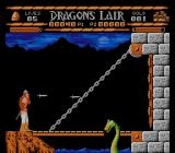 Sullivan Bluth Presents Dragon's Lair NES First level, first enemy: this green dragon.