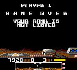 Dropzone Game Gear Game over, with a bad score