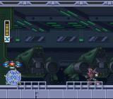 Mega Man X3 SNES Megaman has been prisoned.