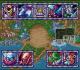 Mega Man X3 SNES Stage selection screen.