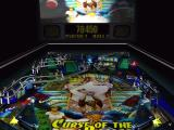 Pinball Windows Curse of the Pharaoh: Backglass visible