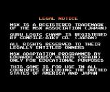 Guru Logic MSX Legal notice