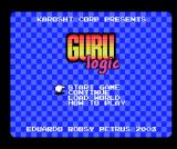 Guru Logic MSX Title screen