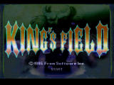 King's Field PlayStation Title screen