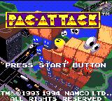 Pac-Attack Game Gear Title screen
