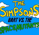 The Simpsons: Bart vs. the Space Mutants Game Gear Title screen