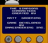 The Simpsons: Bart vs. the Space Mutants Game Gear Credits screen.