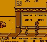 The Simpsons: Bart vs. the Space Mutants Game Gear Bart using his X-Ray Specs to identify disguised space mutants.