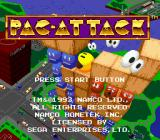 Pac-Attack Genesis Title screen.