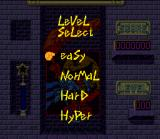 Pac-Attack SNES Normal Mode level selection.