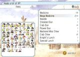 Suikoden Tactics PlayStation 2 Items list and incomplete recruitable characters list