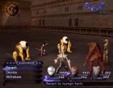 Shin Megami Tensei: Digital Devil Saga PlayStation 2 Battle actions menu scrolls to left and right