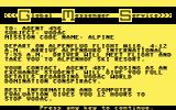 The Alpine Encounter Commodore 64 Your mission, should you choose to accept it...