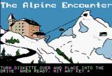 The Alpine Encounter Apple II Title screen