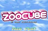 ZooCube Game Boy Advance Title screen.