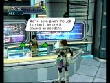 Phantasy Star Online Episode III: C.A.R.D. Revolution GameCube Learning about my next mission.