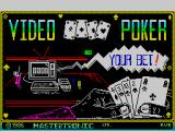 Las Vegas Video Poker ZX Spectrum Loading screen