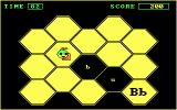 Bouncy Bee Learns Letters DOS Fill in the honeycomb with honey by walking over letters matching the letter displayed in the bottom right