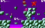 Cosmic Spacehead DOS Don't fall down that pit or get hit by an egg creature (VGA)