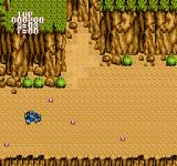 BreakThru NES Try to avoid the mines or just destroy them.