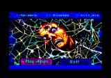Arachnophobia Amstrad CPC Do I want to try again or quit?