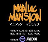 Maniac Mansion NES Title screen (Japanese version)