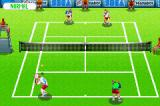 Virtua Tennis Game Boy Advance Playing doubles on grass.