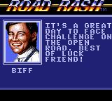 Road Rash Game Gear At every race start the other racers will give you advices.