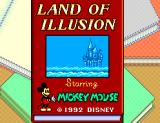 Land of Illusion starring Mickey Mouse SEGA Master System Title screen