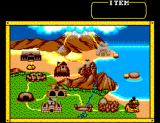 Land of Illusion starring Mickey Mouse SEGA Master System The map