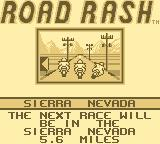Road Rash Game Boy Choose your course.