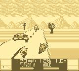 Road Rash Game Boy Avoiding cars and opponents.