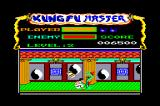 Kung-Fu Master Amstrad CPC In the half part of the second level, you have to defend yourself against falling objects that contain animals, dragons or deadly throwing stars.
