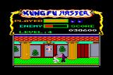 Kung-Fu Master Amstrad CPC And the funny gorilla boss. Notice that it can only be killed with low punch. Normally, by using any other move, the player paralyzes but I've noticed a bug that also crashes the game if you try!!!