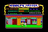 Kung-Fu Master Amstrad CPC The final boss! On the CPC version of the game, I still haven't found a logical way to beat him. It's just pure luck and hitting the keyboard for several minutes ;P