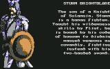 Heroes of the Lance Commodore 64 Character bio: Sturm Brightblade