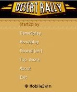 Desert Rally J2ME Main game screen