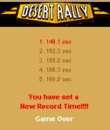 Desert Rally J2ME High score screen