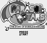 Parasol Stars: The Story of Bubble Bobble III Game Boy Title Screen