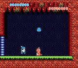 Ufouria: The Saga NES Your first boss battle. Throw the blue monster ball on this pink guy