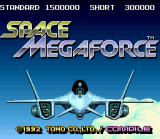 Space Megaforce SNES Title screen.