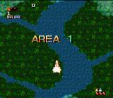 Space Megaforce SNES Start of the first area.