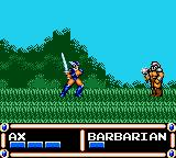 Ax Battler: A Legend of Golden Axe Game Gear When you enter a fight, the view changes to side-scrolling.