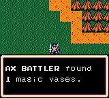 Ax Battler: A Legend of Golden Axe Game Gear When you defeat an enemy, you'll earn magic vases.