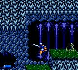 Ax Battler: A Legend of Golden Axe Game Gear Inside a cave.