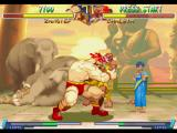 Street Fighter Alpha 2 PlayStation In his close move Kamitsuki, Zangief attacks the opponent with some bloody bites.