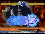 Street Fighter Alpha 2 PlayStation Training Mode session with Vega (M. Bison) connecting 5 hits of his Psycho Crusher in Gouki (Akuma).