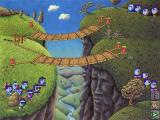 Logical Journey of the Zoombinis Windows 3.x The first puzzle: The Allergic Cliffs; the cliffs are allergic against specific Zoombinis