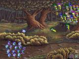 Logical Journey of the Zoombinis Windows 3.x Fleens!; you have to lure the three Fleens off the branch to release the bees
